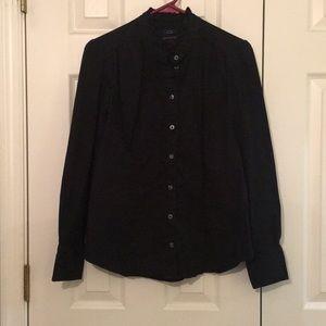 Tommy Hilfiger M Black Stretch Button Up shirt